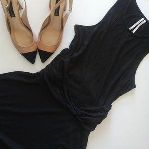 NWOT Anthropologie Black Knit Dress